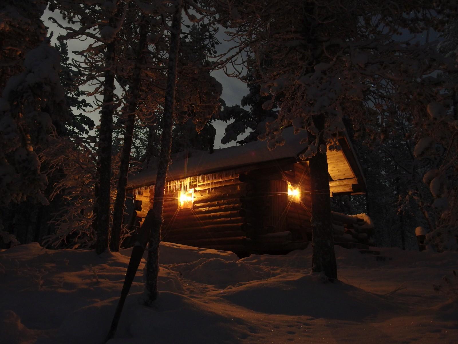 Saunahäuschen Lappland